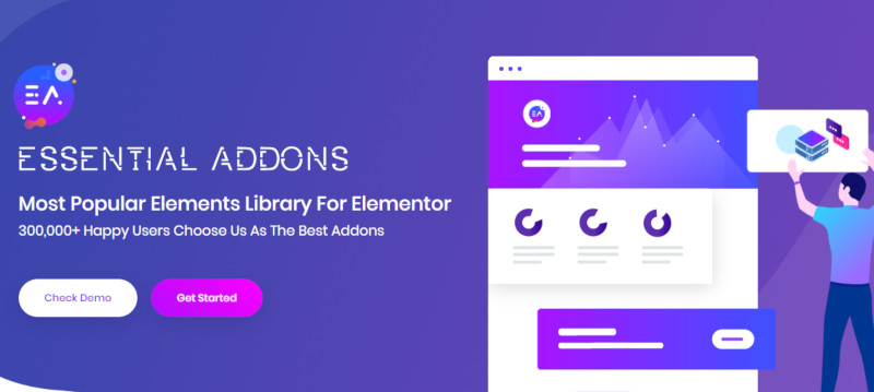 Essential Addons, one of the premium Elementor add-ons developed by WPDeveloper.net