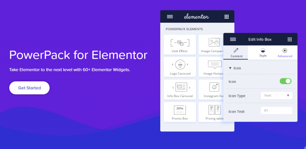 PowerPack, a premium Elementor add-on that gives you 60 extra widgets