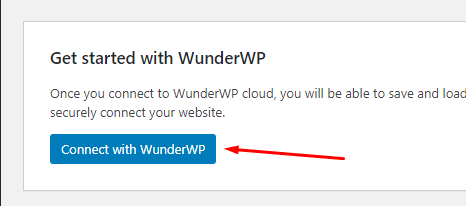 Connecting WordPress site with WunderWP Cloud