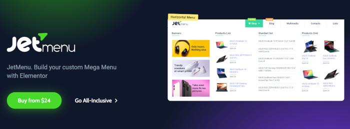 JetMenu add-on from Crocoblock