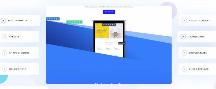 Divi Builder, one of the Elementor alternatives that offers a one-time purchase option